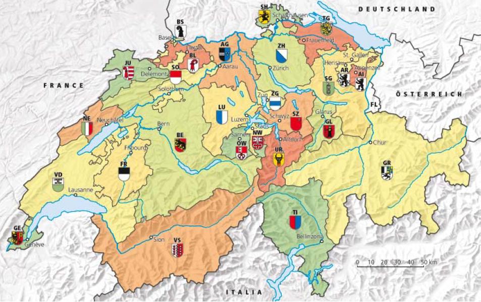 Сколько кантонов в швейцарии фото